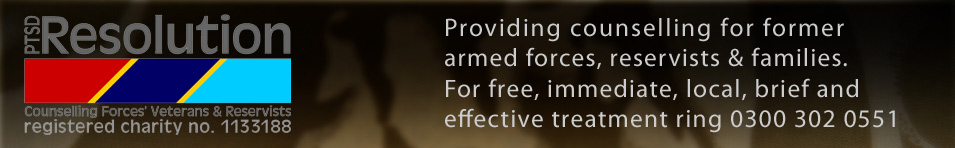 PTSD Resolution - the charity providing free treatment for military ptsd sufferers